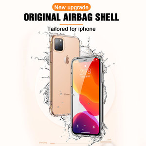 Image 2 - Transparent Protection Case For iPhone 11 Pro X XS Max Four Corner Strengthen Silicon Clear Cover For iPhone 11 pro max 7 8 Plus