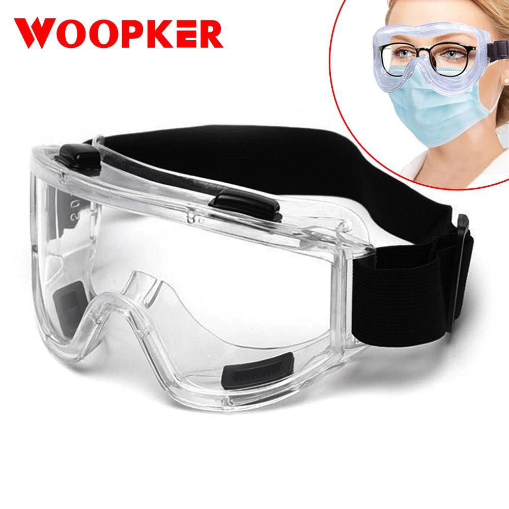 Óculos de segurança anti respingo à prova de poeira à prova de vento laboratório de trabalho óculos de proteção para os olhos pesquisa industrial|Óculos de segurança|   -