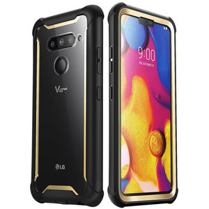 Image 1 - I BLASON For LG V40 Case Ares Full Body Rugged Clear Bumper Cover with Built in Screen Protector For LG V40 ThinQ (2018 Release)