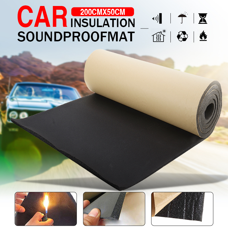 1roll 200cmx50cm 3mm 30mm Car Home Soundproof Deadening Truck Anti Noise Sound Insulation Cotton Heat Closed Cell Foam Deadener Super Offer 636fdd Sassylady