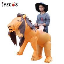 цена на JYZCOS Inflatable Lion Costumes Adults Halloween Christmas Cosplay Clothing Cartoon Animal Suit Festival Party Inflatable Toys
