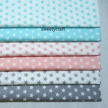 160x50cmstar impressão 100% tecido de algodão por meio metros tissus retalhos para diy costura material bebê vestido folha sarja pano