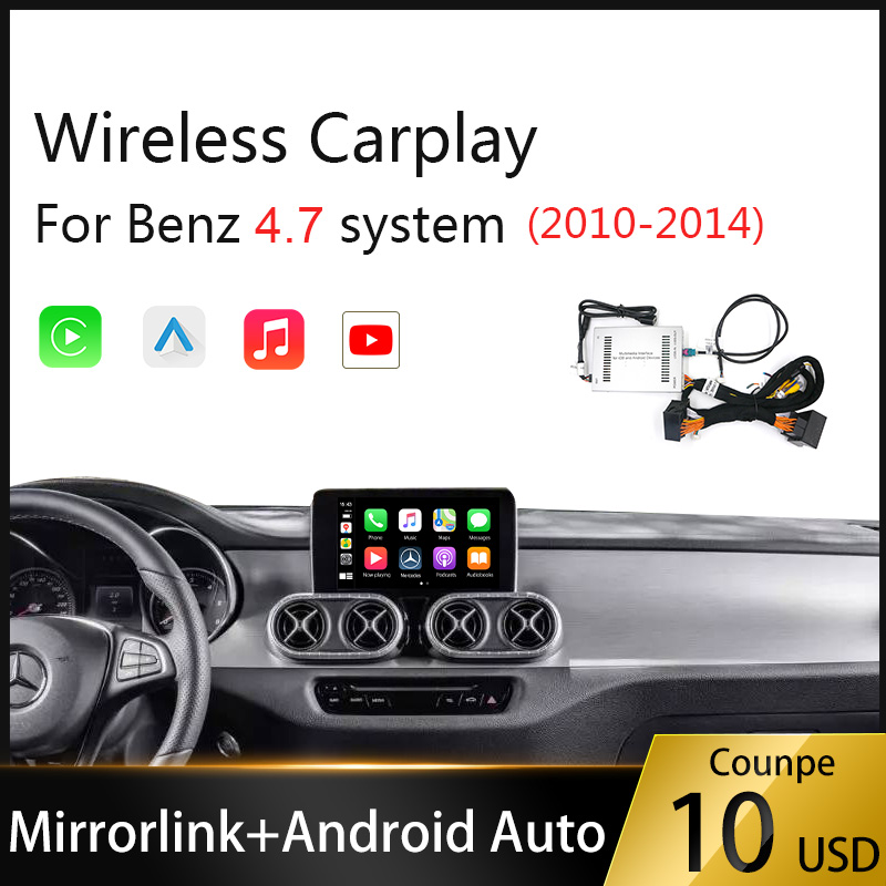 Wireless Carplay Android Auto Multimedia player for Mercedes Benz NTG4.7 2010-2014 GLA A GLC C B E CLS GLE GL Car Play IOS 13 image