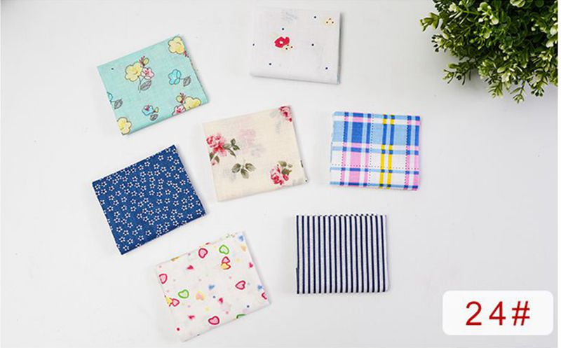 H888e9a68d2c94c7594f4ef5b05892582A 25x25cm and 10x10cm Cotton Fabric Printed Cloth Sewing Quilting Fabrics for Patchwork Needlework DIY Handmade Accessories T7866