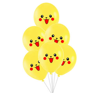 Free Shipping New picachu print balloon birthday party decorations kids ballon kids room decoration balloons children's party(China)