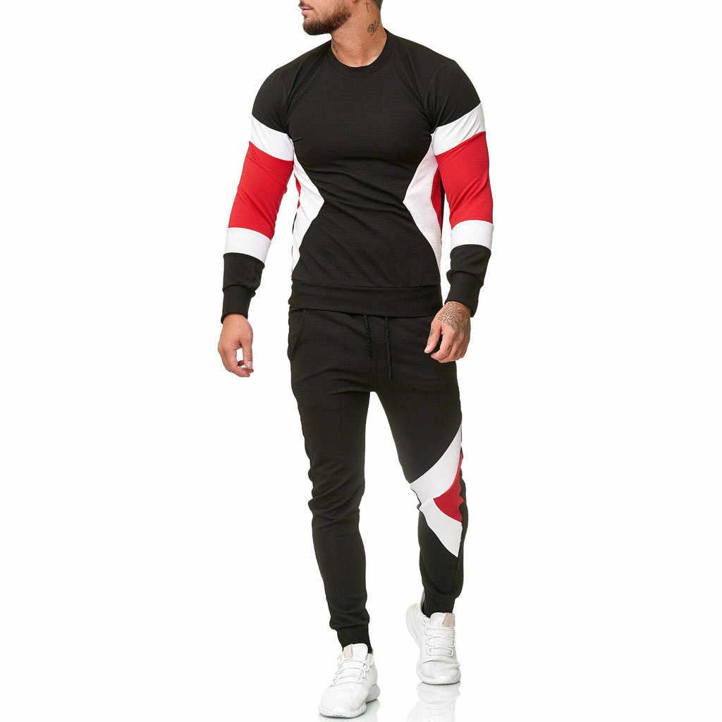 新ブランドヒップホップ男性 2 個セットスポーツウェア + マルチポケットパンツスーツ chandal hombre スポーツトラックスーツ 9.2