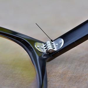 Image 4 - إطار نظارات جوني ديب دائري من مادة خلات إطار نظارات بصرية إطار عدسات شفافة للنساء والرجال وصفة طبية لقصر النظر