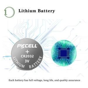 Image 2 - 100Pcs PKCELL CR2032 3V כפתור תא 2032 BR2032 DL2032 SB T15 cr 2032 EA2032C ECR 2032 3V ליתיום סוללה מטבע סוללות 220mah