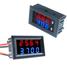 Мини 5 проводов цифровой 0,28 ''DC 0-100V 10A Вольтметр Амперметр Вольт Ампер напряжение измеритель тока Панель тестер двойной светодиодный дисплей...