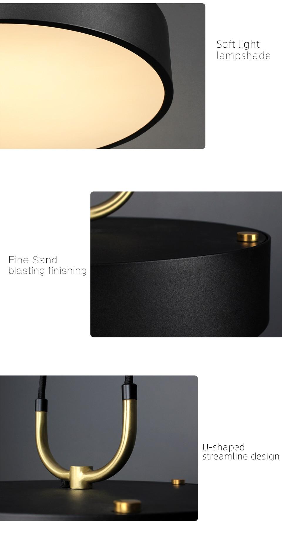 Radiant Minimalist Pendant Lamp details