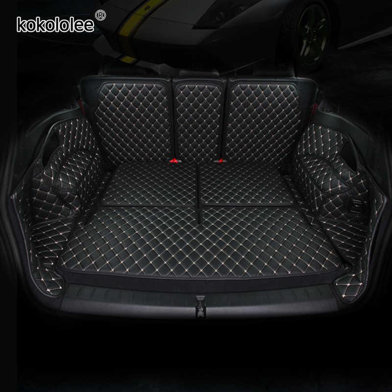 カスタム革車のトランクマットプジョー 206 207 2008 307 308sw 3008 408 4008 508 rcz カースタイリングカーペットフロア