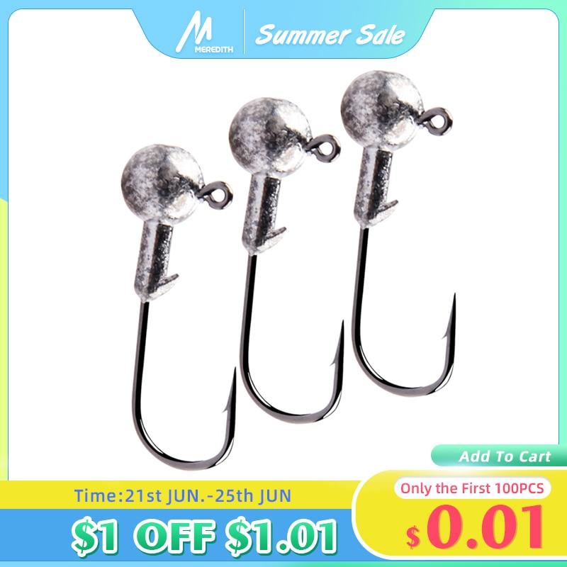 MEREDITH Jig Head 1g 2g 3g 4g 5g 7g 8g 10g 12g 14g 22g Head Hook Jig Fishing Hook Jig Pike Fish Accessories