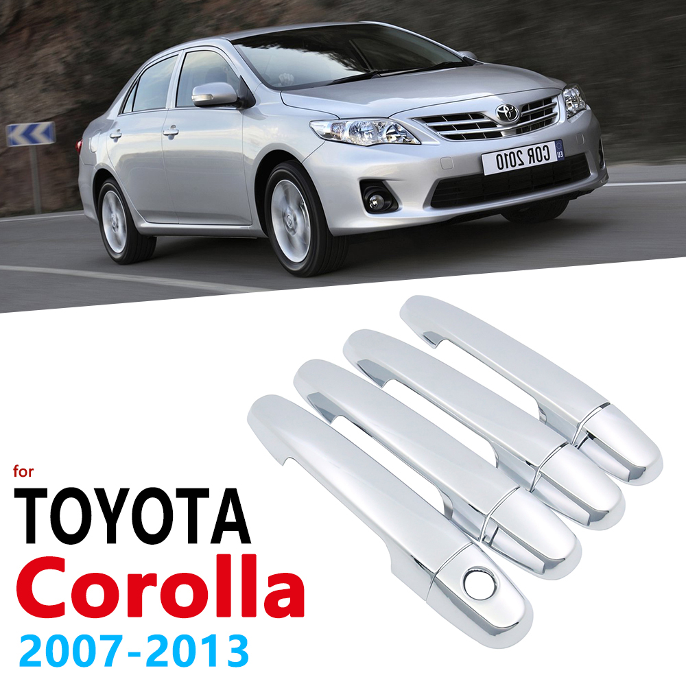 Chrome Handles Cover Trim Set for <font><b>Toyota</b></font> <font><b>Corolla</b></font> <font><b>E140</b></font> <font><b>E150</b></font> 2007~2013 Accessories Stickers Car Styling 2008 2009 2010 2011 2012 image
