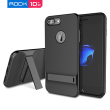 For iPhone 7 Plus Case ROCK Luxury Royce PC Frame + TPU Back Case Cover for iPhone 6 Plus чехол Fundas with Kickstand on sales