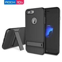 Pour iPhone 7 Plus étui ROCK luxe Royce PC cadre + coque arrière en TPU pour iPhone 6 Plus accessoires avec béquille en vente
