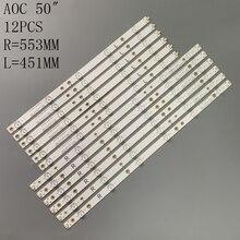 Tira de LED para iluminación trasera (12) para Sharp LC 50LB371C 50LB481U 50PUT6400 50PFT4509 50PFH4009 500TT64 500TT63 LB50045 V0 V1 00 50PFH5300