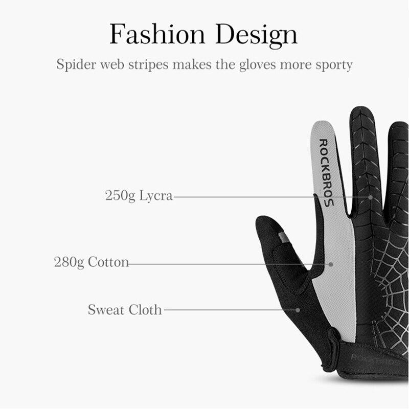 Теплые зимние осенние ветрозащитные велосипедные перчатки с