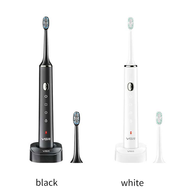 VGR Sonic Electric Toothbrush USB Charging Smart Adult Waterproof Massage Whitening Acoustic Wave