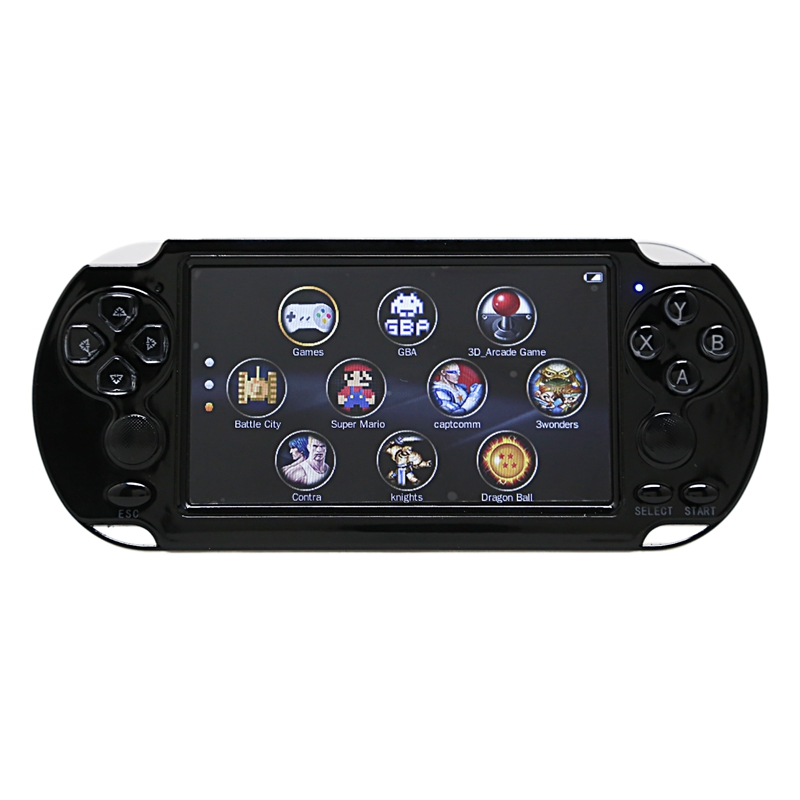 X9-S 5.1Inch Screen Handheld Game Player 8G 10000 Games Tv Output With Mp3/Movie Camera Multimedia Video Retro Mini Game Console