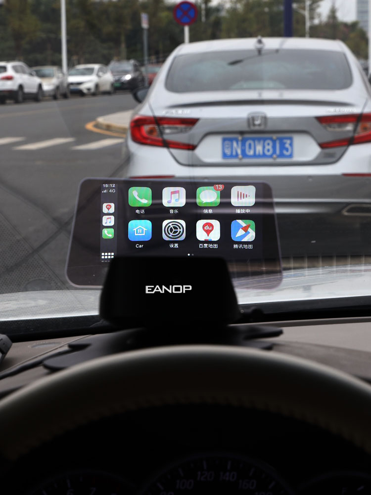 EANOP GPS Navigation Support Head-Up-Display Steering-Wheel Carplay OBD2 Wireless Auto