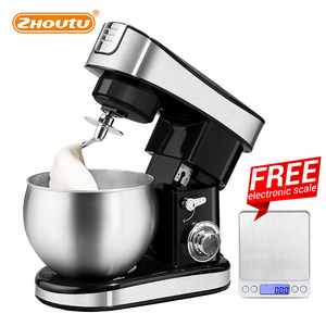 zhoutu 5.5L Kitchen Food Stand Mixer,electric Stainless Steel Blender,chopper juicer Cream Egg Cake Bread Food Mixer 1500W 6-sp