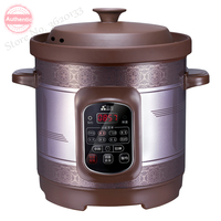 6L/8L Certified True Redware electric Slow / rapid Cookers Soup stewing machine Reservation 8 functions Digital Timer