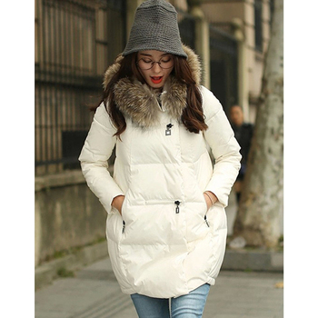 Women Fur Collar Coat Warm Thicken Jacket Woman Down Jacket Plus Size Pregnant Jacket Women Outerwear Maternity Clothes Winter