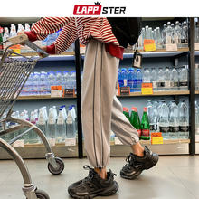 Joggers Pants LAPPSTER Harajuku Japanese Streetwear Black Vintage-Side Striped Men Man