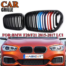 цены MagicKit for BMW F20 F21 1 Series 2012 2013 2014 2015 Pair ABS Replacement Gloss Black M Front Kidney Grille Grill Double Slat