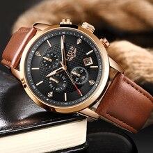 2020 LIGE Leather Watches Mens Top Brand Luxury Business Watch Fashion Sport Clock Waterproof Quartz Men Watch Relogio Masculino