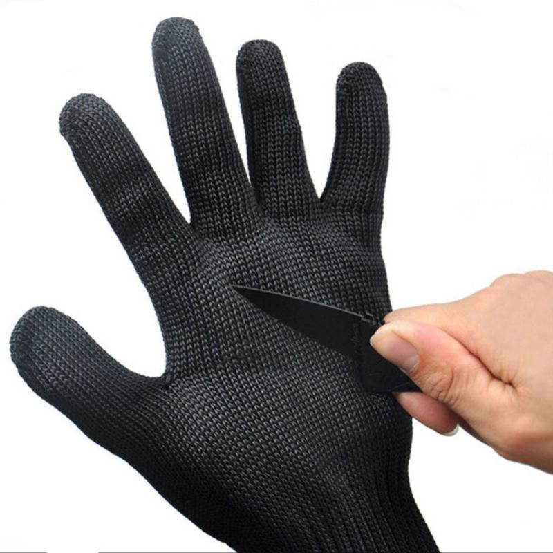 1 пара анти вырезать охотничьи перчатки для рыбалки черный Сталь проволочная Металлическая Сетка Перчатки Безопасность устойчивые к порезам износостойкие ПЕРЧАТКИ МЯСНИКА|Перчатки для рыбалки| | АлиЭкспресс