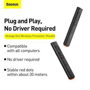 Image 5 - Baseus مقدم لاسلكي القلم 2.4Ghz USB C محول يده مؤشر التحكم عن بعد الأحمر القلم باور بوينت نقطة عرض مؤشر