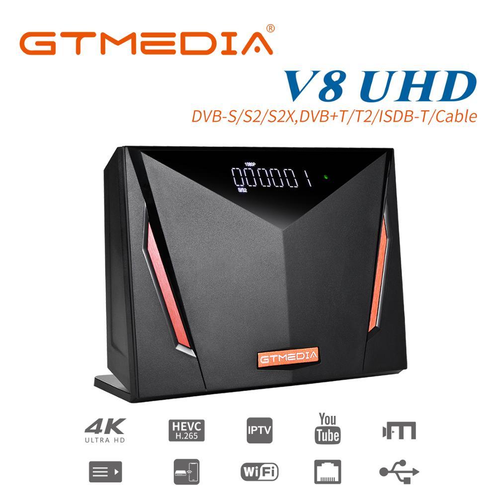 2020 новейшая коробка Gtmedia V8 UHD DVB S2 цифра спутниковый телевизионный ресивер Встроенный Wi Fi, поддержка T2 MI H.265 DDVBS/S2/S2X + T/T2/кабель/ATSC C/ISDBT|Спутниковое ТВ|   | АлиЭкспресс