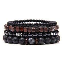 Bracelet en perles labradorites naturelles unisexe, assortiment de pierres hématite et onyx polies, pour une bonne énergie