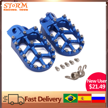 Foot Pegs FootRest Footpegs Pedals For HUSQVARNA TC65 TC85 TC125 FC250-FC450 TC250 TE FE 150-501 FS450 2014-2018 2019 2020