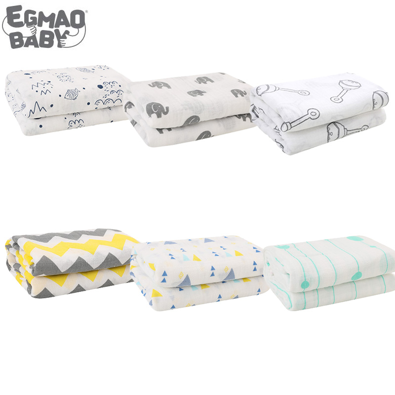 One Piece Frosted Bag Ed Muslin Baby Blanket Swaddle Wrap For Newborn Infant 100% Cotton 120*120CM  Sleepsack Stroller Cover