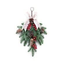 Window-Ornaments Christmas-Garland Door Wall-Hanging/upside Rattan/pe Xmas-Decor/shopping-Mall