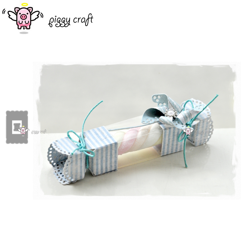 Piggy Craft metal cutting dies cut die mold Rectangular frame candy box Scrapbook paper craft knife mould blade punch stencils-in Cutting Dies from Home & Garden