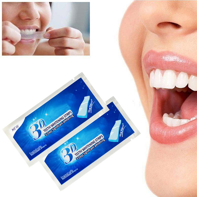 1Pc Daily Life Teeth Whiten Mint Flavored Teeth Whitening Strips Gel Oral Care Dental Bleaching Teeth Whitening Strip Tools(China)