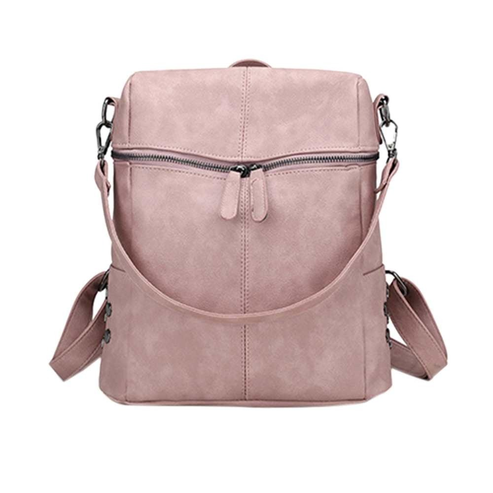 Fashion Vintage Leather Pu Women Backpack Large Capacity Shoulder Bags kanken School Backpacks For Teenage Girl mochila Female image