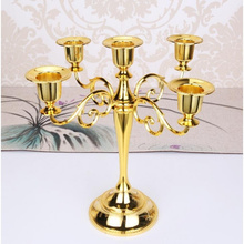 Candle Holders Home Decoration 3/5 Arms Candle Metal Candelabra Decorative Gold Candle Holders Wedding Decor silver gold 3 arms metal pillar candle holders candlestick wedding decoration stand mariage home decor candelabra