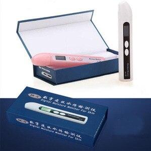 SK-IV цифровой ЖК-анализатор для кожи лица BIA тест на воду и масло er монитор влажности кожи детектор Тест На масло ручка уход за кожей