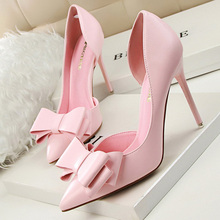 Pumps Women Shoes High Heels Butterfly-Knot Ladies