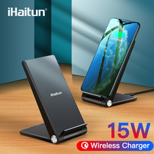 iHaitun 15W Qi Wireless Charger Type C Quick Charge 3.0 4.0 Stand Phone Holder Pad For iPhone 11 Pro Max Samsung Galaxy S10 USB