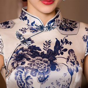 Image 3 - watercolor silk cheongsam qipao a female high end Chinese wind restoring ancient ways cultivate morality substituting