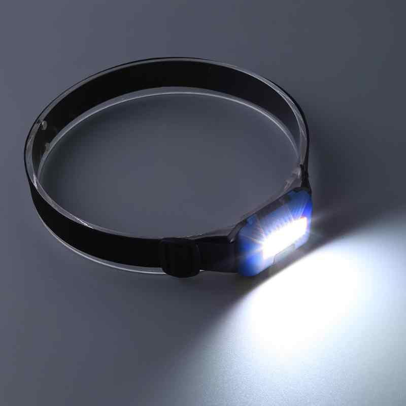 Mini 3 Modes étanche COB lampe de poche LED en plein air phare phare lampe frontale lampe torche lanterne avec bandeau utilisation