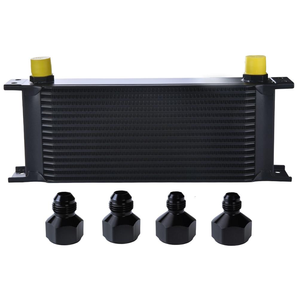 13-ROWS BLACK POWER COATED ALUMINUM ENGINE TRANSMISSION OIL-COOLER 50 F COOLING