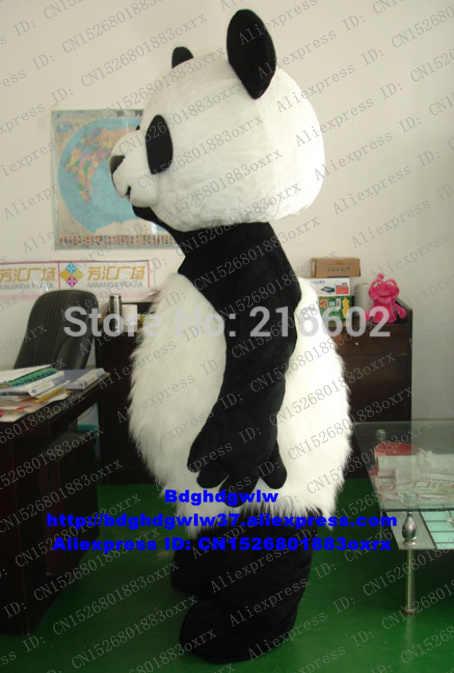 Nieuwe Versie Chinese Reuzenpanda Beer Mascotte Kostuum Adult Cartoon Karakter Drum Up Business Hilarische Grappige CX4018 Gratis Schip