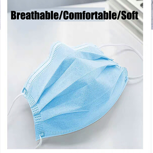10/100pcs Men Women adult Cotton Anti Dust Mask Activated Filter 3 layers mouth mask muffle Bacteria Flu Face Masks for hair