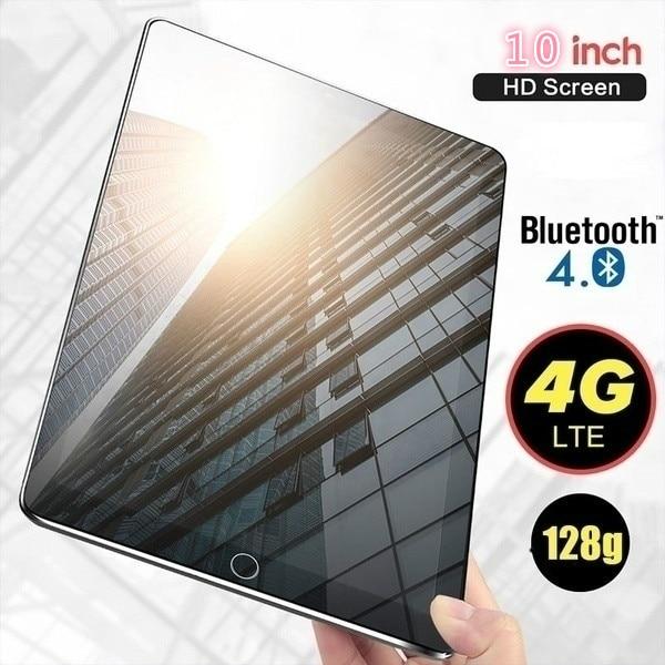 2021 6G + 128 Гб планшет 10 дюймов десять основных подключается к сети 4G, Wi-Fi, планшетный ПК с системой андроида и 9,0 Arge 1280*800 IPS Экран Две сим-карты, дв...